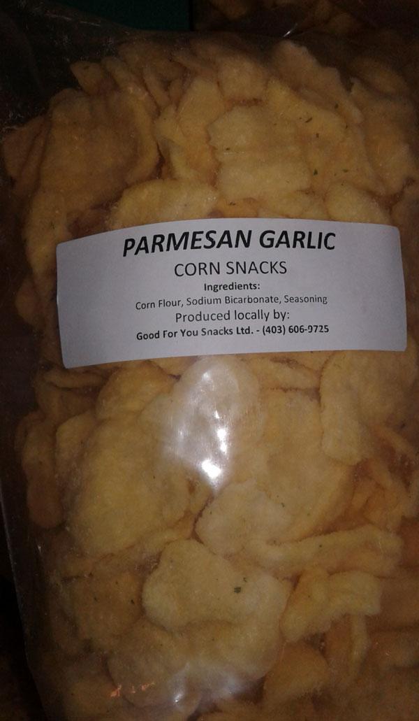 « Parmesan Garlic Corn Snacks » - Format Non déclaré