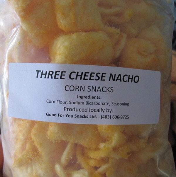 « Three Cheese Nacho Corn Snacks » - Format Non déclaré