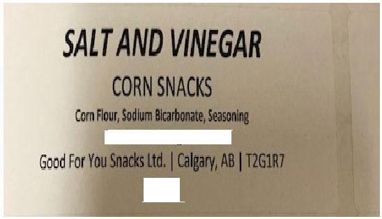 « Salt and Vinegar Corn Snacks » - Format Non déclaré