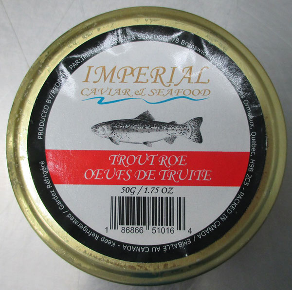 Imperial Caviar and Seafood brand Trout Roe, 50 grams