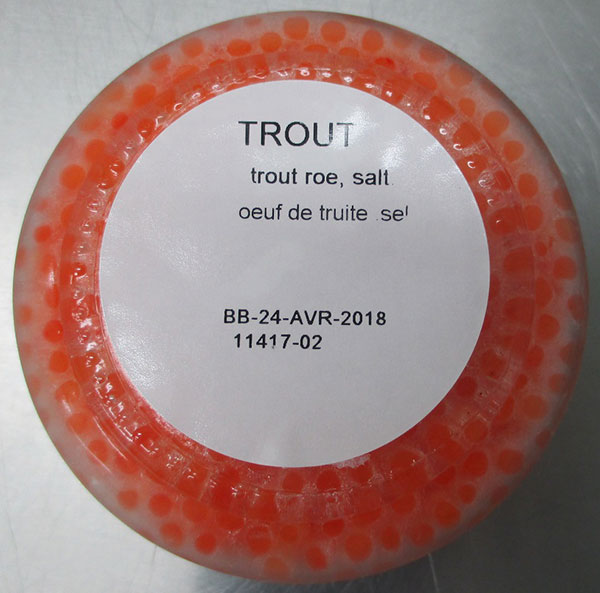 Imperial Caviar and Seafood brand Trout Roe, 100 grams - bottom