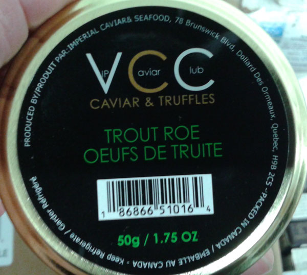 VIP Caviar Club Trout Roe – 50 grams