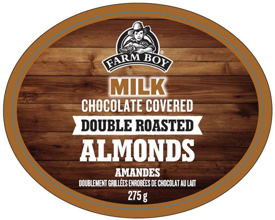 Farm Boy - Milk Chocolate Covered Double Roasted Almonds - front