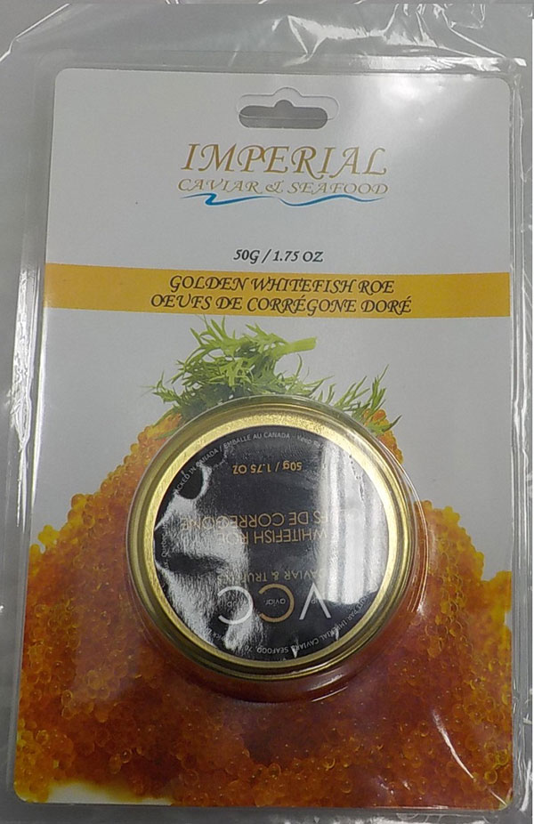 Imperial Caviar & Seafood / VIP Caviar Club brands Golden Whitefish Roe - front