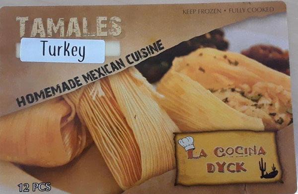 La Cocina Dyck - « Turkey Tamales » - 12 morceaux