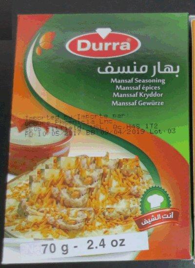 Durra - Manssaf épices