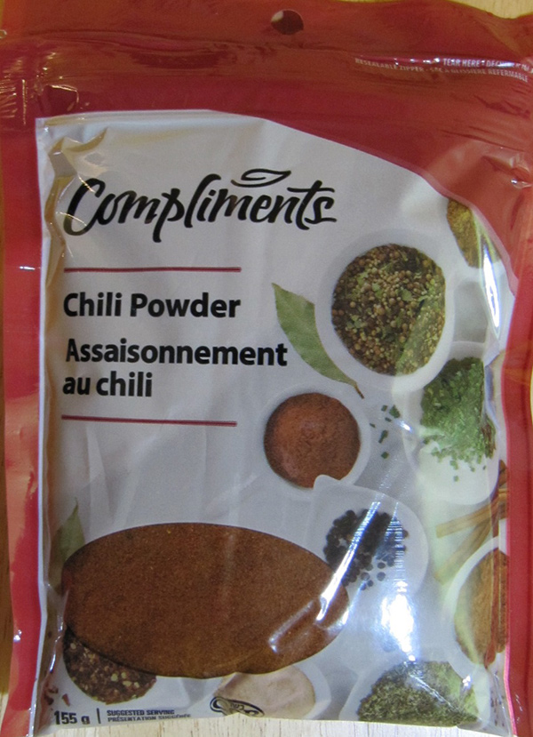 Compliments: Chili Powder – 155 grams