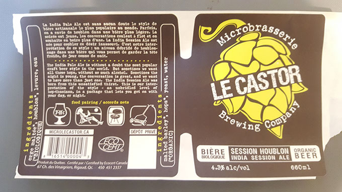Le Castor - Session houblon - 660 mL