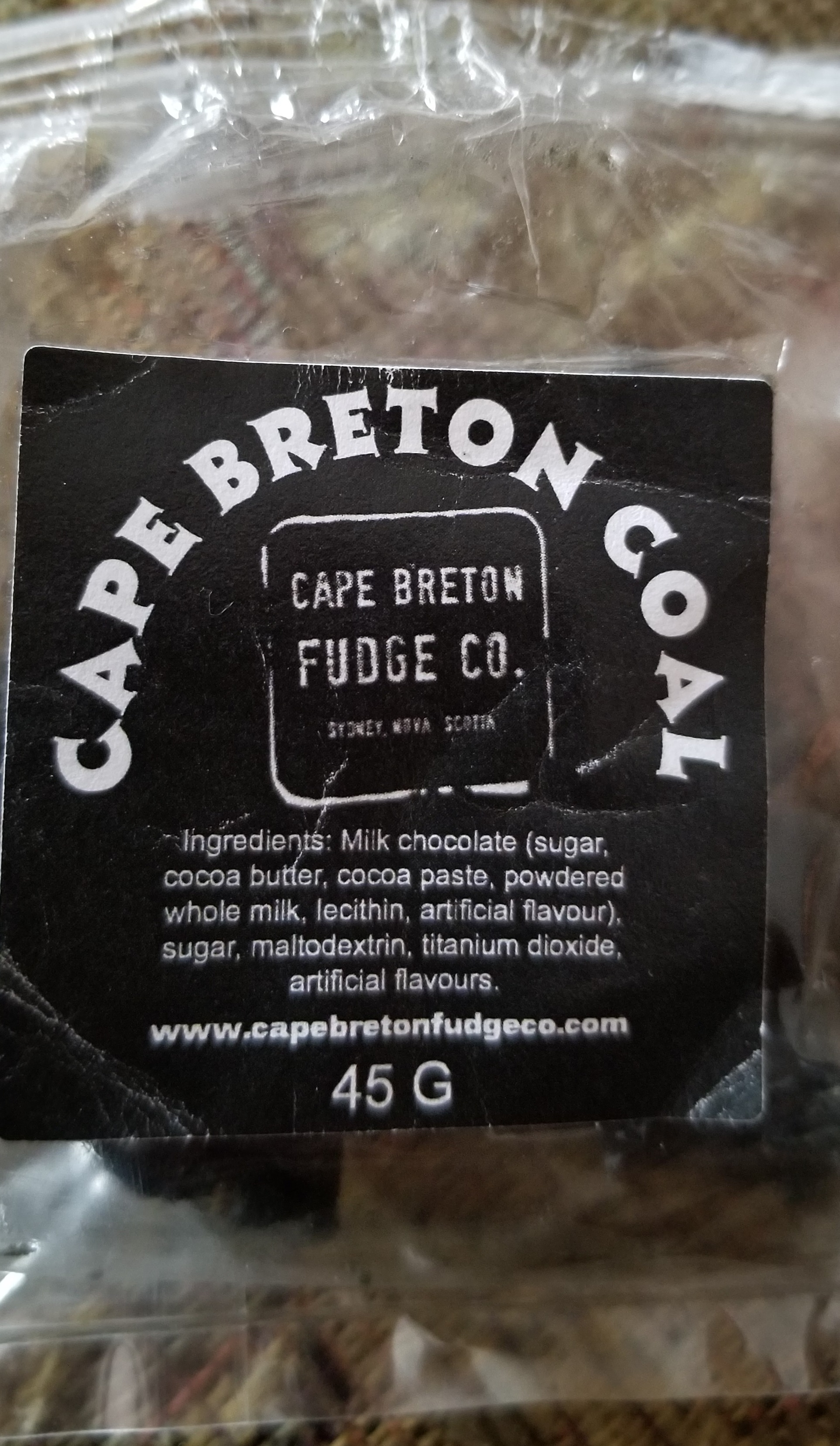 Cape Breton Fudge Co. - « Cape Breton Coal »