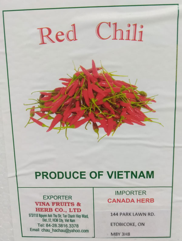 Red Chili – Variable weight (label)