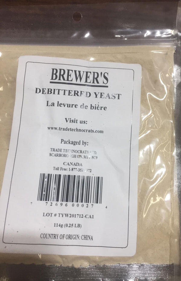 None (packaged by: Trade Technocrats Ltd.) - Brewer's Debittered Yeast - 114 grams