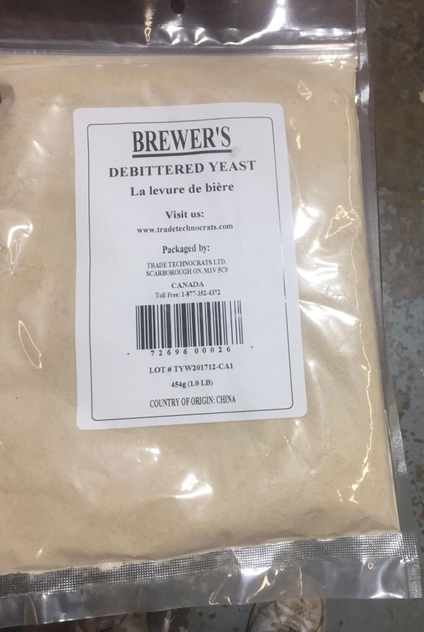 None (packaged by: Trade Technocrats Ltd.) - Brewer's Debittered Yeast - 454 grams