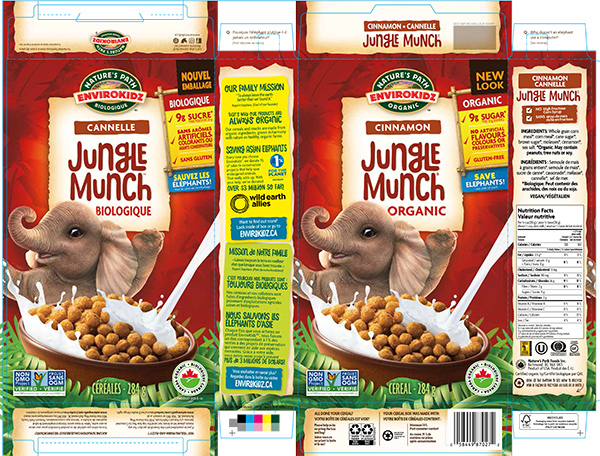 EnviroKidz - Jungle Munch Cinnamon Organic Cereal