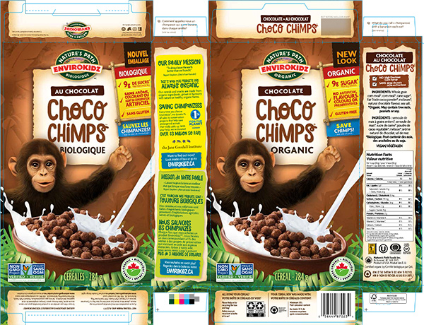 EnviroKidz - Choco Chimps Chocolate Organic Cereal