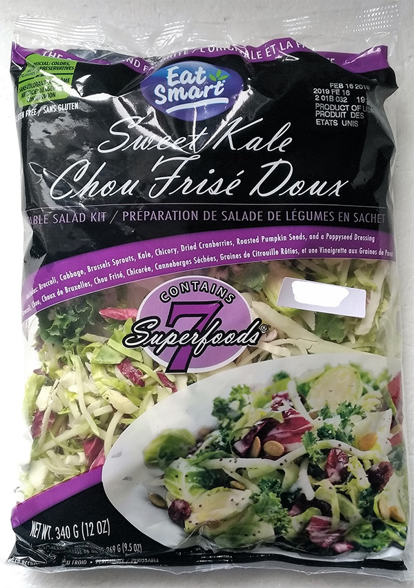Eat Smart: Sweet Kale Vegetable Salad Bag Kit - 340 G (12 oz.)