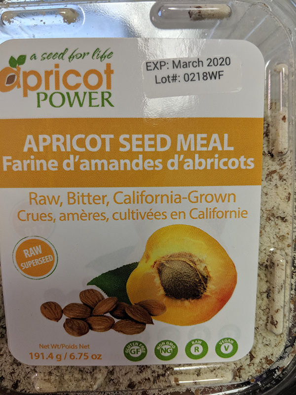 Apricot Power: Apricot Seed Meal - 191.4 grams