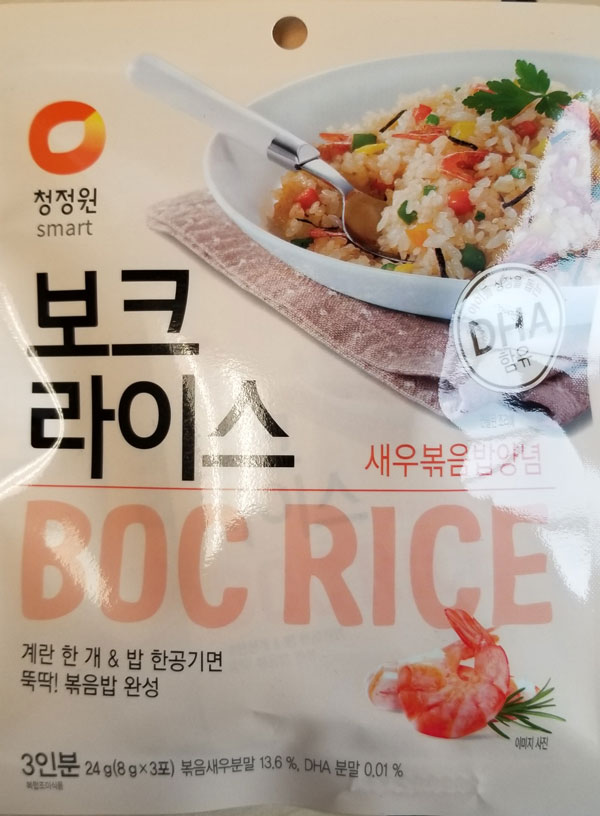 Daesang: Boc Rice (Shrimp) – 24 grams (front)