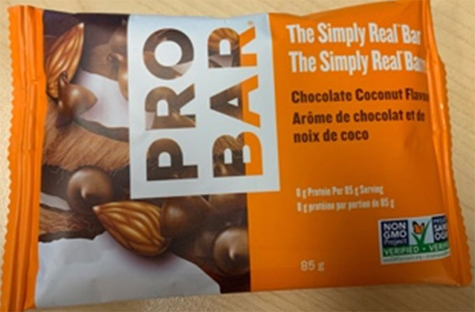 Probar: The Simply Real Bar, Chocolate Coconut Flavour - 85 g