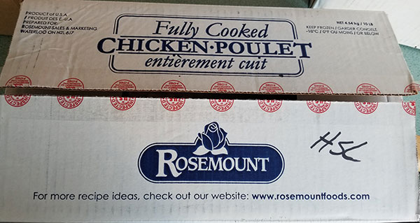"Rosemount - Cooked diced chicken meat 13 mm – ½"" (#16305) - top"