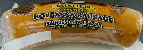 Brandt Extra Lean Kolbassa Sausage– 250 grams (front)
