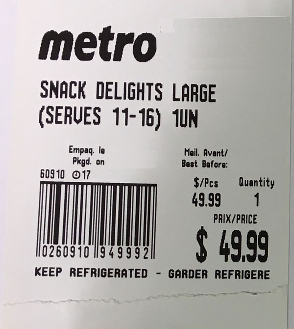Metro Snack Delights Large – 1un