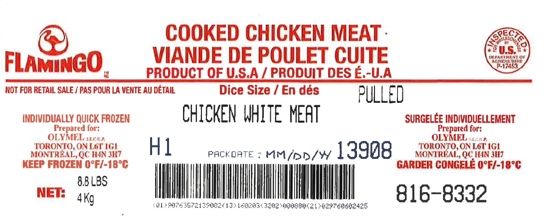 Flamingo- Cooked Chicken Meat – Chicken White Meat – Pulled (#816-8332)