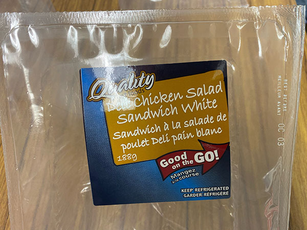 Deli Chicken Salad Sandwich White - Oct 3