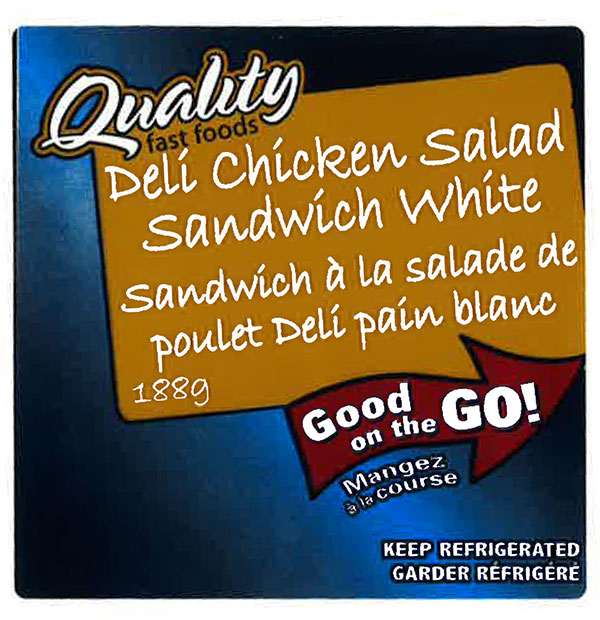 Quality Fast Foods - Deli Chicken Salad Sandwich White