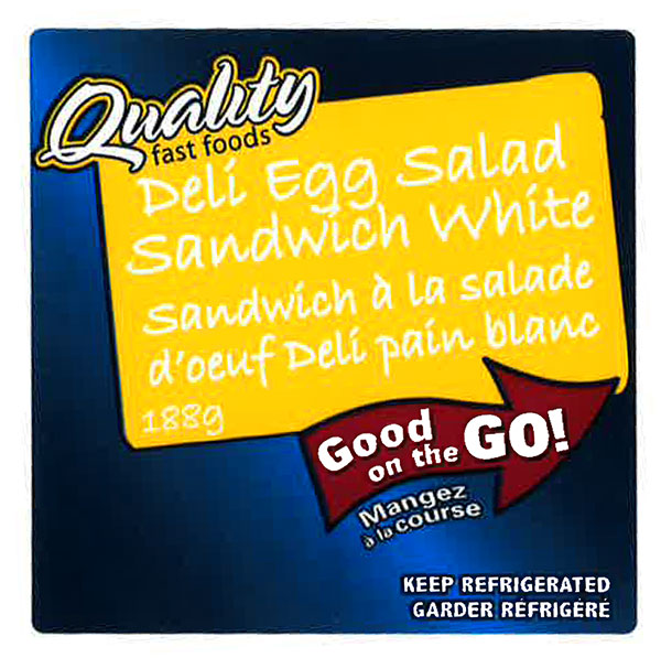 Quality Fast Foods - Deli Egg Salad Sandwich White