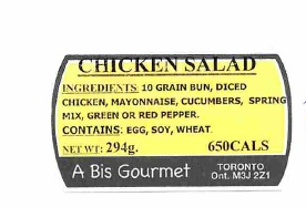 A Bis Gourmet - Chicken Salad