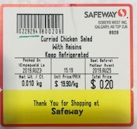 Safeway - Curried Chicken Salad with Raisins
