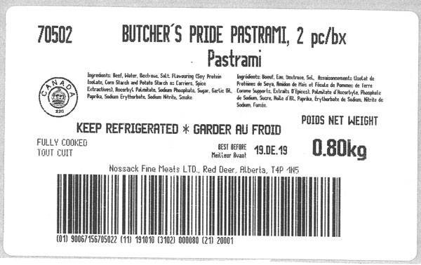 Butcher's Pride - Pastrami - 2pc