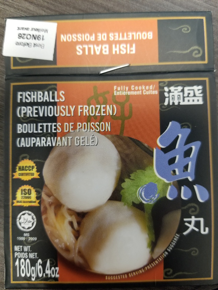 Fishballs (previously frozen)