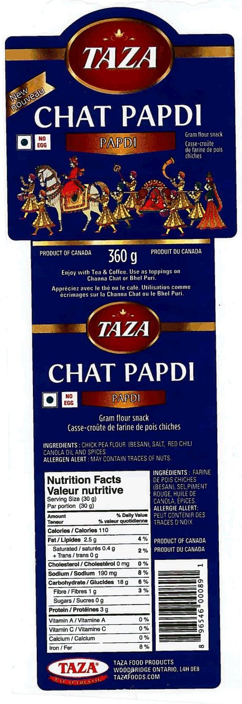 Chat Papdi - Casse-croûte de farine de pois chiches de marqueTaza
