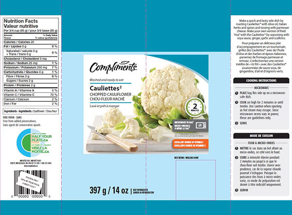 Compliments - Cauliettes – Chopped Cauliflower