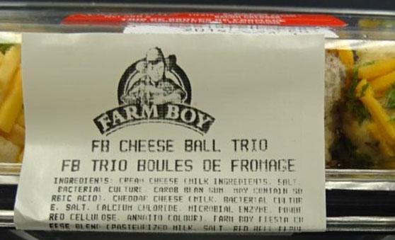Farm Boy Cheese Ball Trio – 360 grams (side)