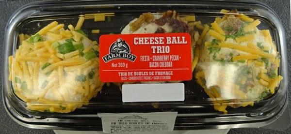 Farm Boy Cheese Ball Trio – 360 grams (outer label)