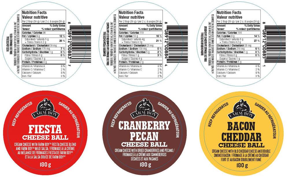 Farm Boy Cheese Ball – 180 grams (pre-printed labels)