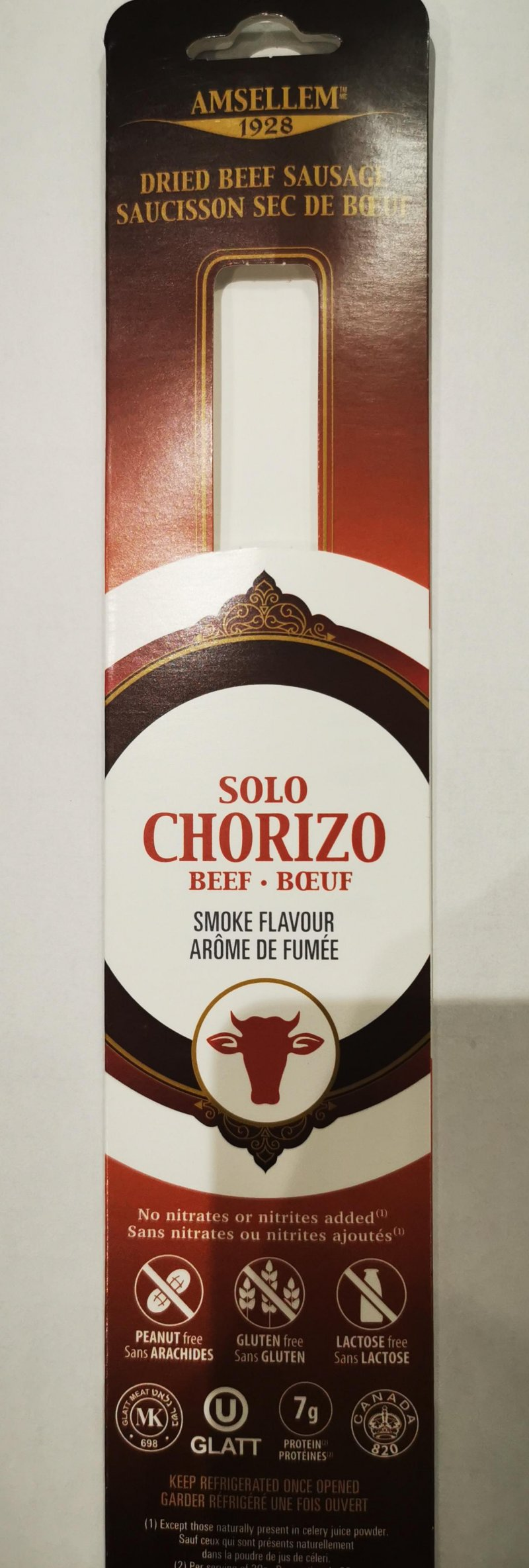 Amsellem - Solo Chorizo – Dried Beef Sausage
