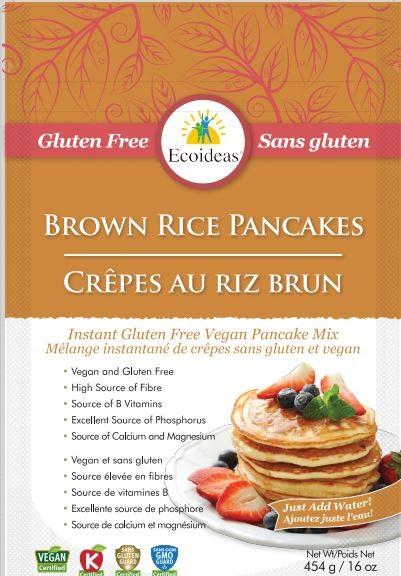 Ecoideas– Brown Rice Pancakes Mix– 454 grams
