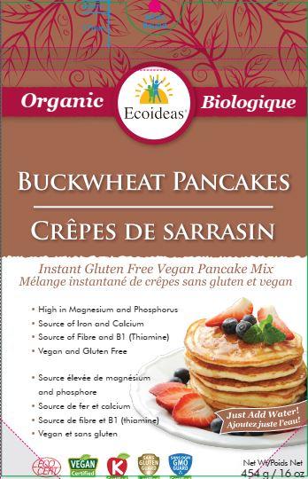 Ecoideas– Buckwheat Pancakes Mix– 454 grams