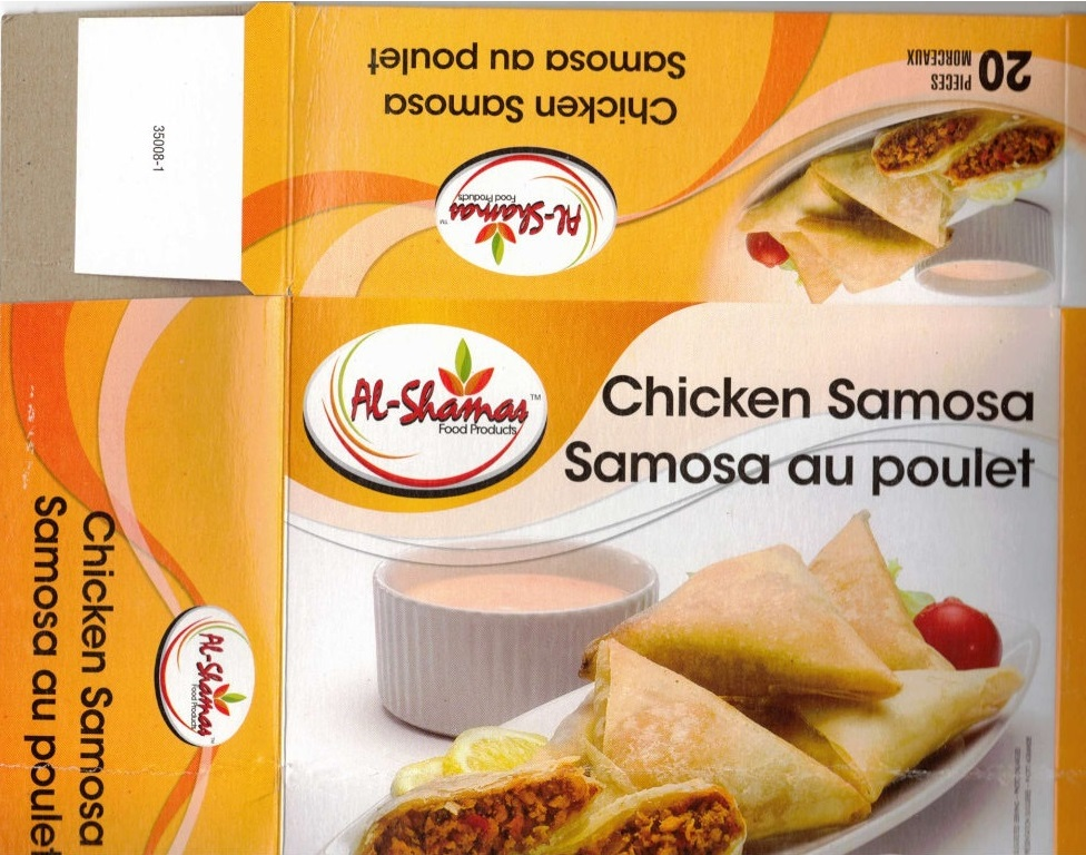 Al-Shamas Food Products : Samosa au poulet - 650 g