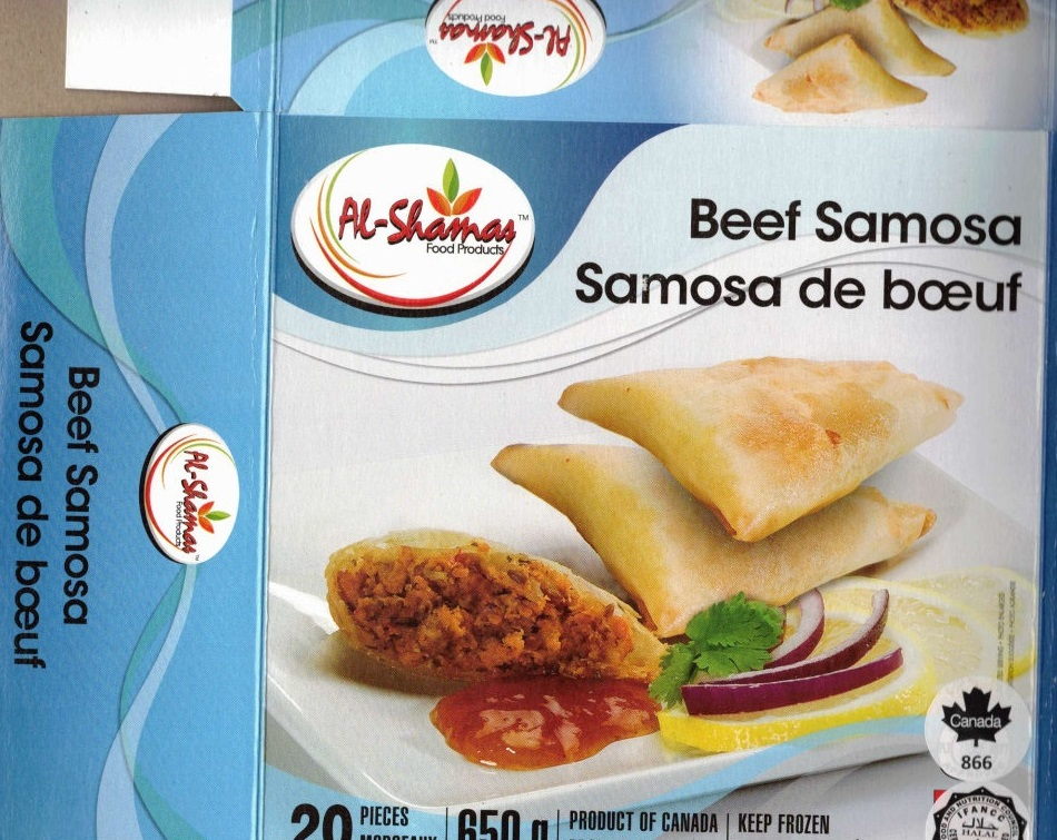 Al-Shamas Food Products : Samosa de bœuf - 650 g