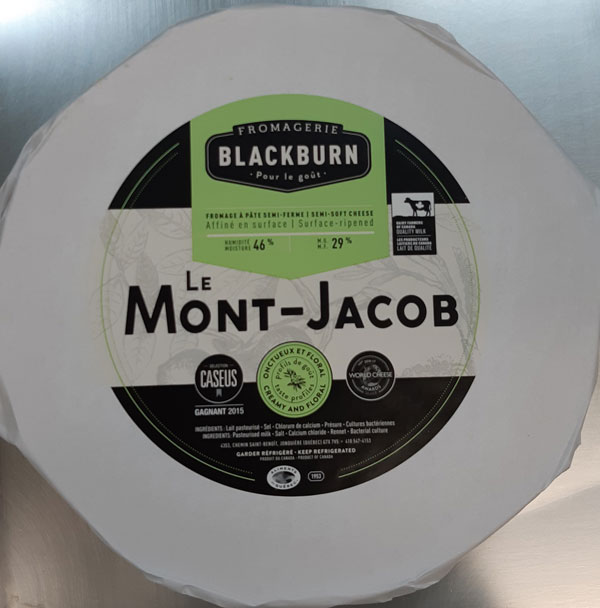 Fromagerie Blackburn – Le Mont-Jacob semi-soft cheese – Variable weight – cheese wheels (front)