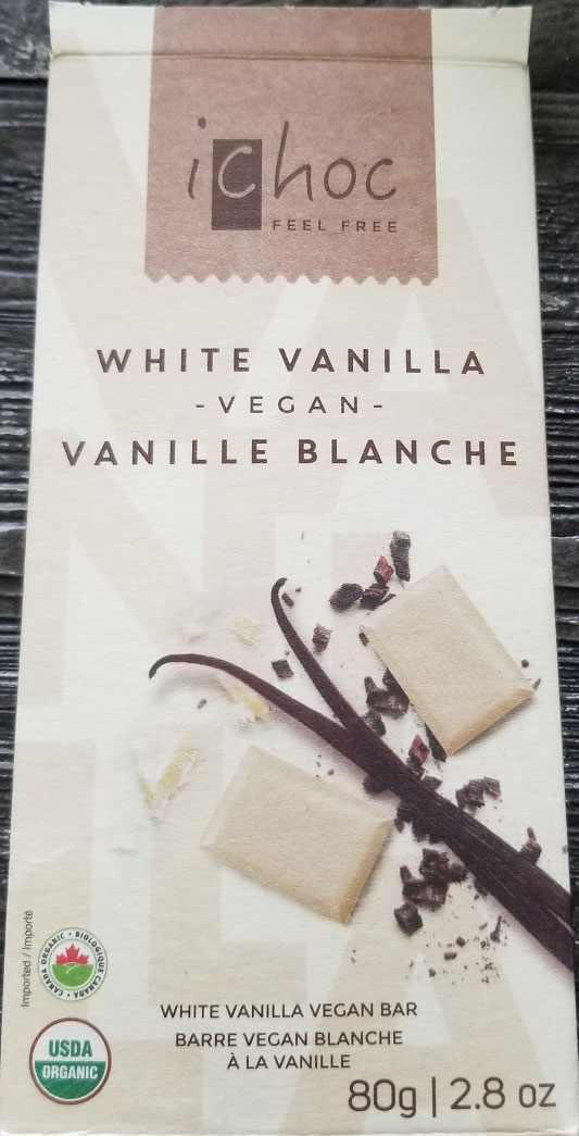 iChoc - White Vanilla Vegan Bar - front