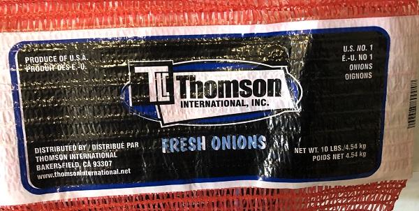 Thomson International Fresh Onions – 4.54 kg