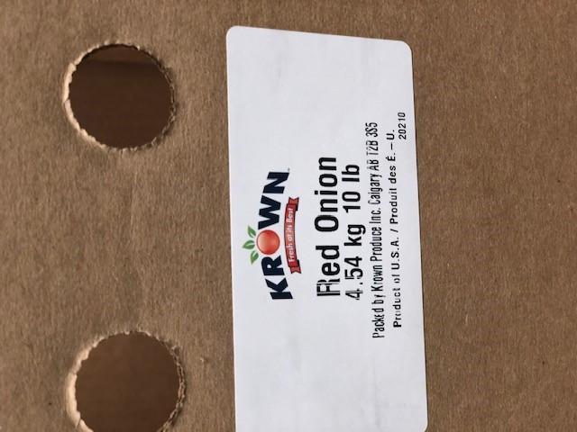 "Krown - ""Red Onion"" - 4.54 kg / 10 lb (label)"
