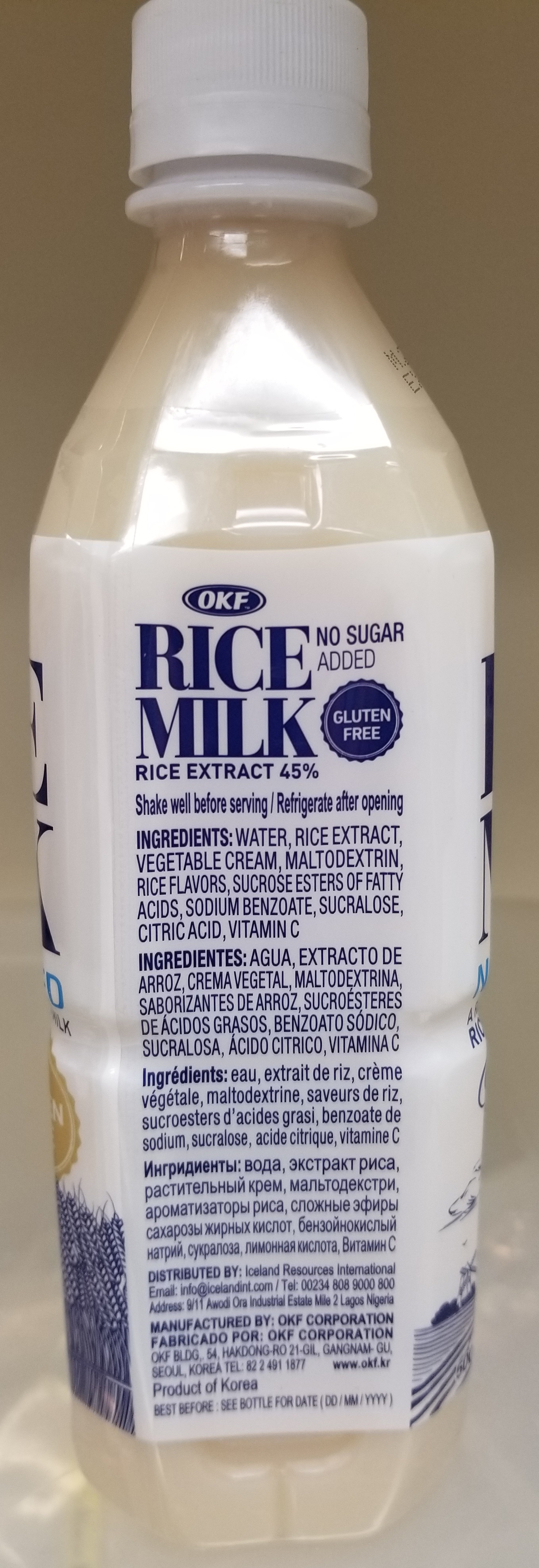 OKF - Rice Drink Original (back)