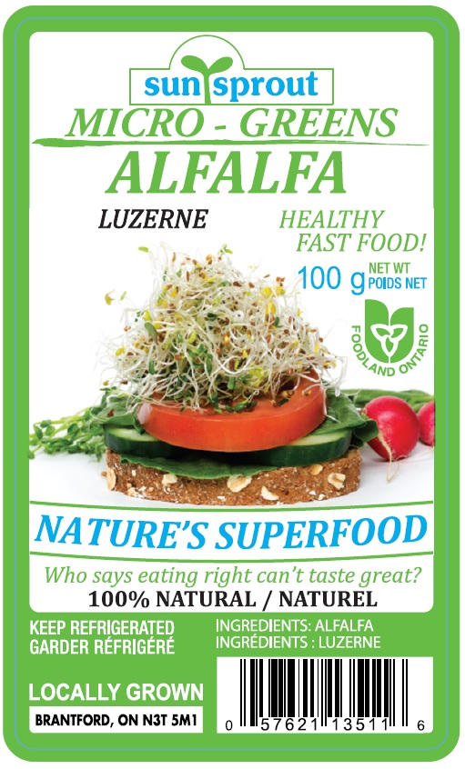 Sunsprout - Micro – Greens Alfalfa - 100 g