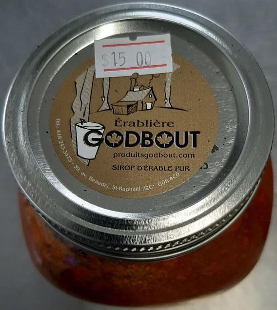 """Érablière Godbout– """"Sauce spaghetti"""" (label)"""